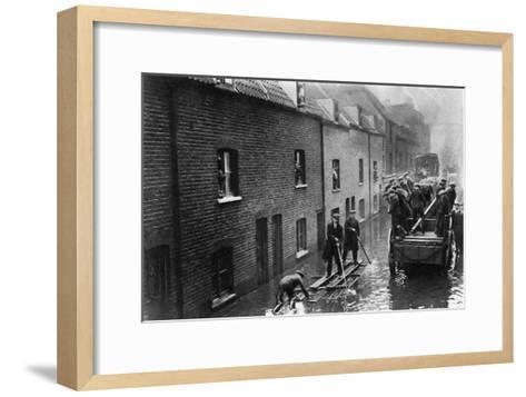 Flooding of London, January 1928--Framed Art Print