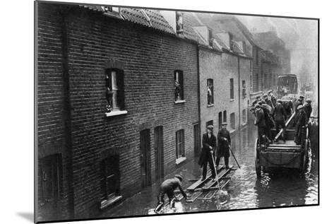 Flooding of London, January 1928--Mounted Giclee Print