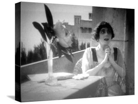 Vera Karalli, Russian Ballet Dancer and Silent Film Actress, 1917--Stretched Canvas Print