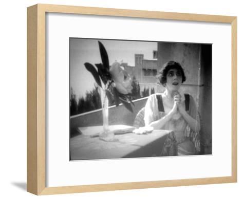 Vera Karalli, Russian Ballet Dancer and Silent Film Actress, 1917--Framed Art Print