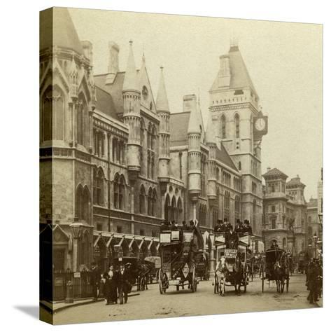 Law Courts, Strand, London, Late 19th Century--Stretched Canvas Print