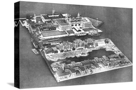 Aerial View of Ellis Island Immigration Station, New York, USA, 1926--Stretched Canvas Print