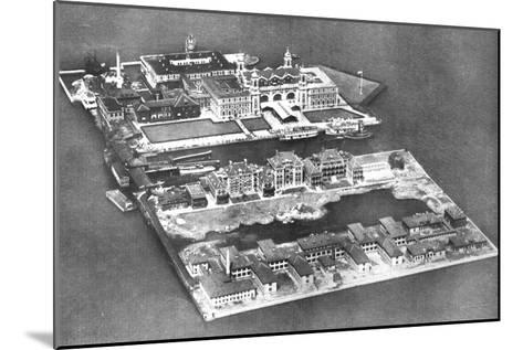 Aerial View of Ellis Island Immigration Station, New York, USA, 1926--Mounted Giclee Print