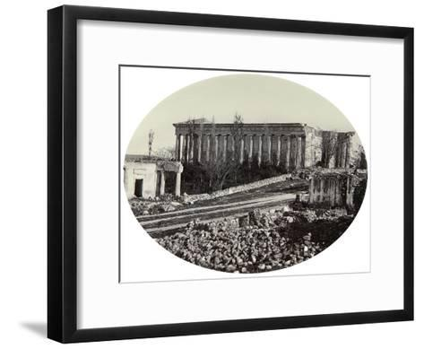 The Peter and Paul Cathedral in Sevastopol after the Crimean War, Crimea, Late 1850s--Framed Art Print