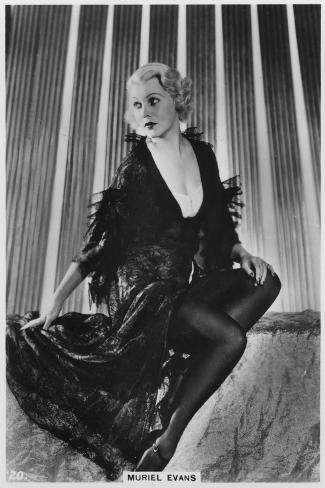 Muriel Evans, American Film Actress, C1938--Stretched Canvas Print