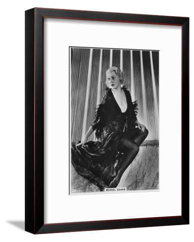 Muriel Evans, American Film Actress, C1938--Framed Art Print