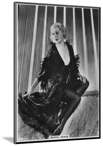 Muriel Evans, American Film Actress, C1938--Mounted Giclee Print