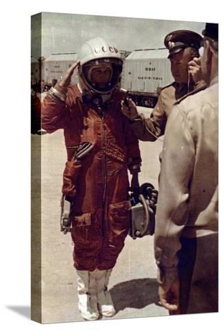 Valentina Tereshkova, Russian Cosmonaut, Baikonur Cosmodrome, USSR, 16 June 1963--Stretched Canvas Print