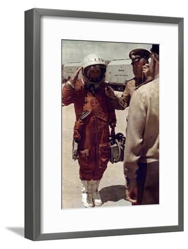 Valentina Tereshkova, Russian Cosmonaut, Baikonur Cosmodrome, USSR, 16 June 1963--Framed Art Print