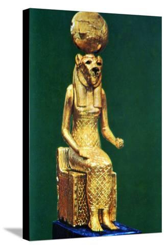 Seated Statuette of the Ancient Egyptian Goddess Sekhmet, 16th-13th Century Bc--Stretched Canvas Print
