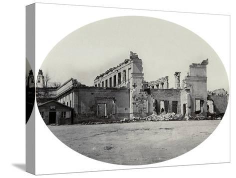 Damaged Building in Sevastopol after the Crimean War, Crimea, 1850S--Stretched Canvas Print