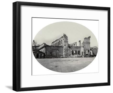 Damaged Building in Sevastopol after the Crimean War, Crimea, 1850S--Framed Art Print