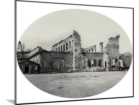 Damaged Building in Sevastopol after the Crimean War, Crimea, 1850S--Mounted Giclee Print