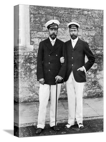 Tsar Nicholas II of Russia and King George V of Great Britain--Stretched Canvas Print