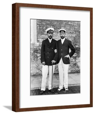 Tsar Nicholas II of Russia and King George V of Great Britain--Framed Art Print