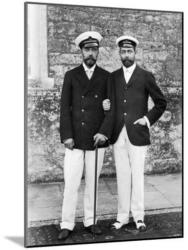 Tsar Nicholas II of Russia and King George V of Great Britain--Mounted Giclee Print