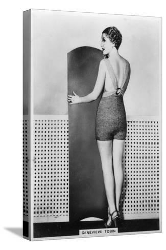 Genevieve Tobin, American Film Actress, 1938--Stretched Canvas Print