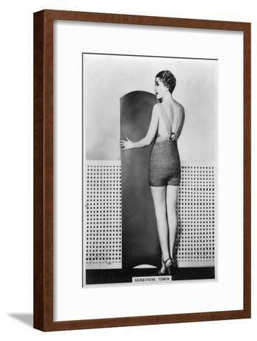 Genevieve Tobin, American Film Actress, 1938--Framed Art Print