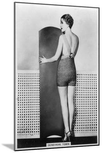 Genevieve Tobin, American Film Actress, 1938--Mounted Giclee Print