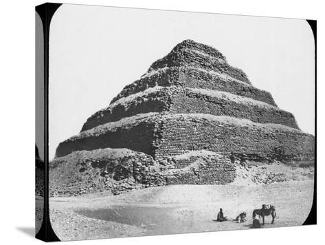 Stepped Pyramid of King Djoser, Saqqara, Egypt, C1890-Newton & Co-Stretched Canvas Print