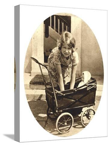 Princess Elizabeth, Future Queen Elizabeth II of Great Britain, Windsor, 1930S--Stretched Canvas Print