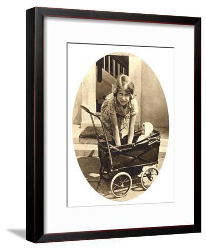 Princess Elizabeth, Future Queen Elizabeth II of Great Britain, Windsor, 1930S--Framed Art Print
