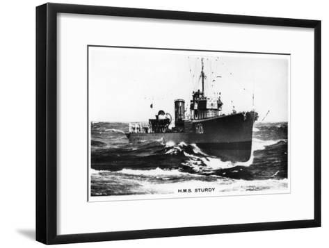 HMS Sturdy, S Class Destroyer, 1937--Framed Art Print