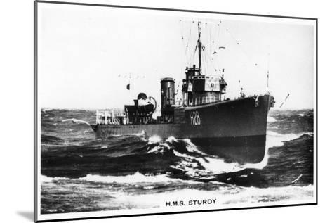 HMS Sturdy, S Class Destroyer, 1937--Mounted Giclee Print