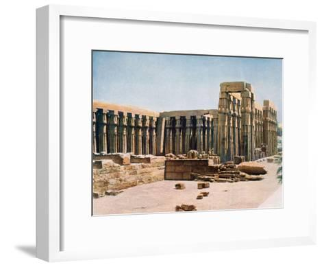The Colonnade of Amenhotep III, Temple of Luxor, Egypt, 20th Century--Framed Art Print