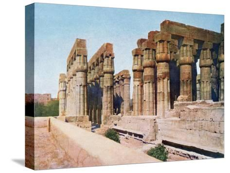 The Colonnade of Amenhotep III, Temple of Luxor, Egypt, 20th Century--Stretched Canvas Print