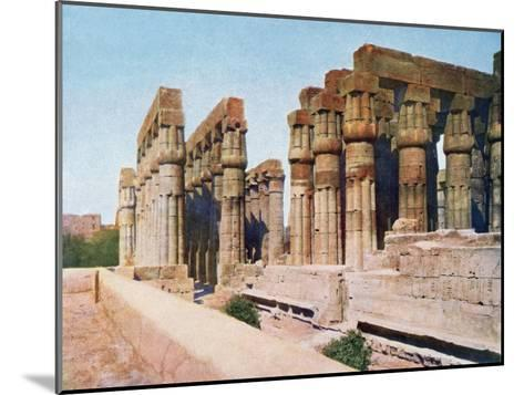 The Colonnade of Amenhotep III, Temple of Luxor, Egypt, 20th Century--Mounted Giclee Print
