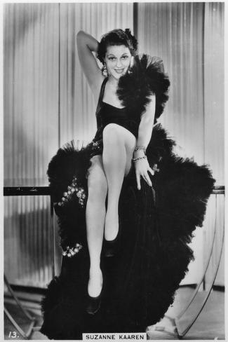 Suzanne Kaaren, American B-Movie Actress, C1938--Stretched Canvas Print
