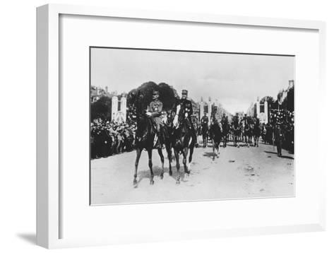 Marshals Foch and Joffre During the Grand Victory Parade, Paris, France, 14 July 1919--Framed Art Print