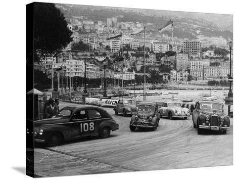 The Monte Carlo Rally, Monaco, 1954--Stretched Canvas Print
