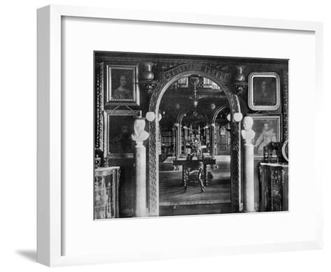 The Library, Keir House, Bridge of Allan, Stirlingshire, Scotland, 1924-1926-Valentine & Sons-Framed Art Print