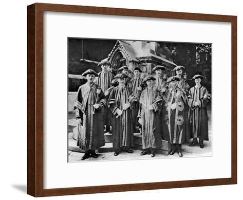 The Ward Beadles, Guildhall, London, 1926-1927--Framed Art Print