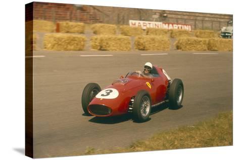 Phil Hill in Action in a Ferrari, Dutch Grand Prix, Zandvoort, 1959--Stretched Canvas Print