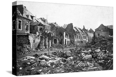 Street Scene after the Fall of Peronne, France, First World War, 1917--Stretched Canvas Print