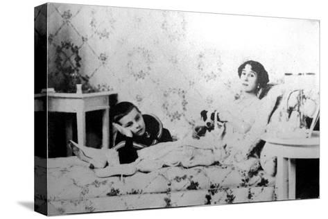 Mathilde Kschessinska, Russian Prima Ballerina, with Her Son, Volodya, 1910--Stretched Canvas Print