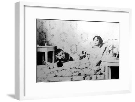 Mathilde Kschessinska, Russian Prima Ballerina, with Her Son, Volodya, 1910--Framed Art Print