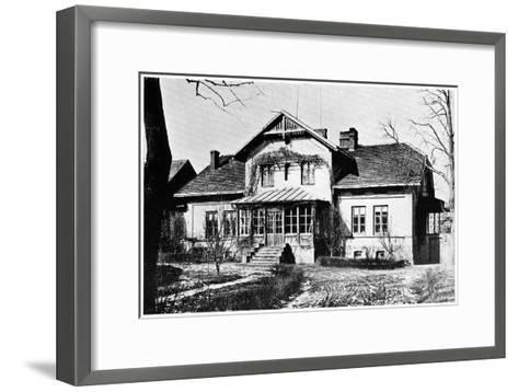 House Where Marie Curie Was Governess, C1887--Framed Art Print
