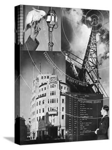 A Visit to the BBC, 1937--Stretched Canvas Print