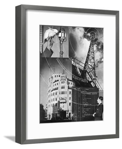 A Visit to the BBC, 1937--Framed Art Print