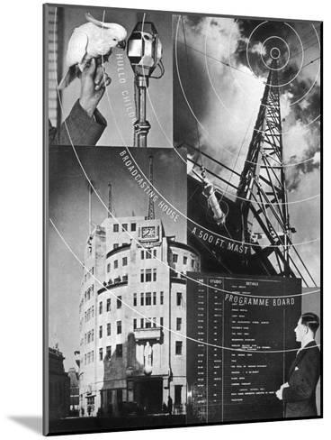 A Visit to the BBC, 1937--Mounted Giclee Print