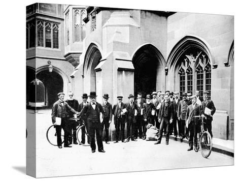 Group of Vote Office Messengers, Houses of Parliament, Westminster, London, C1905--Stretched Canvas Print