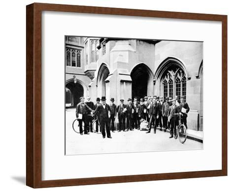 Group of Vote Office Messengers, Houses of Parliament, Westminster, London, C1905--Framed Art Print