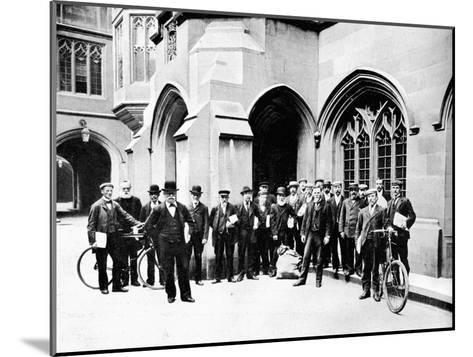 Group of Vote Office Messengers, Houses of Parliament, Westminster, London, C1905--Mounted Giclee Print