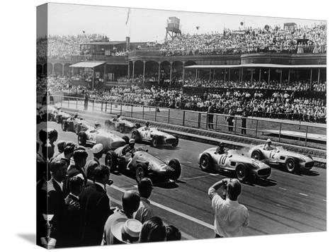Start of the British Grand Prix, Aintree, Liverpool, 1955--Stretched Canvas Print