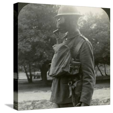 Infantry Fitted with the Latest Gas Marks and Steel Helmets, World War I, 1915-1918--Stretched Canvas Print