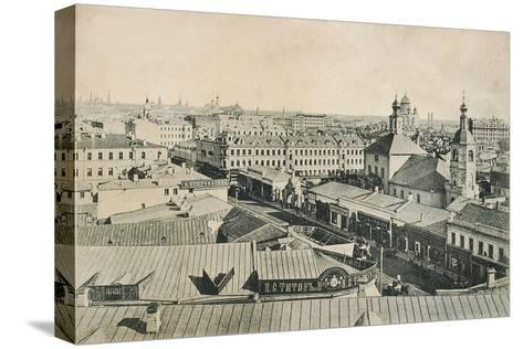 View of the Arbat in Moscow, Russia, Late 19th or Early 20th Century--Stretched Canvas Print